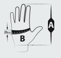 wymiary rękawic