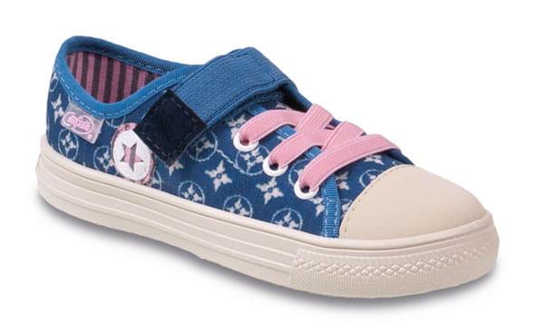 Trampki na rzep i gumki dla dziewczynki 429X003